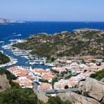 Aerial View Above Poltu Quatu - Sardinia, Italia — Stock Photo