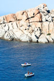 Dinghies At Capo Testa, Sardinia — 图库照片