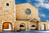 The Church Of St. John The Baptist - Cannigione, Sardinia — Stock Photo