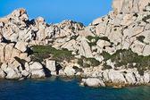 Felsen und Meer - Capo Testa, Sardinien — Stockfoto