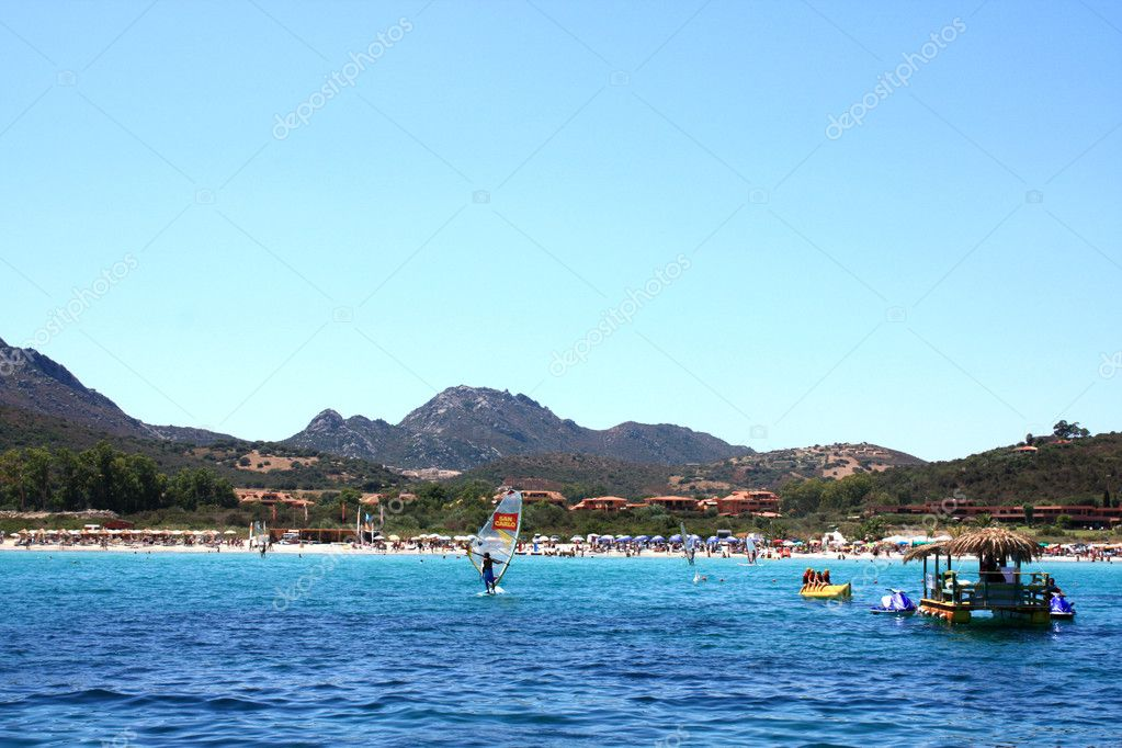 Beach in Golfo Di Marinella, Sardinia, Italy. — Stock Photo #5427717