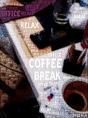 Coffee Break Poster — Stock Photo