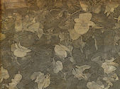 Old Sepia Floral Background — 图库照片