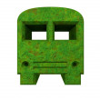 Green bus icon in 3D — Stock Photo