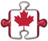 Flaga amerykańska przycisk kanada logiczne kształt — Zdjęcie stockowe