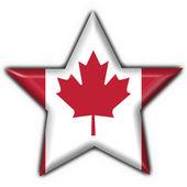 Canada button flag star shape — Stock Photo