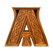 3d illustration of Celtic alphabet letter A — Stock Photo