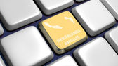 Keyboard (detail) with Netherlands Antilles map key — Stock Photo
