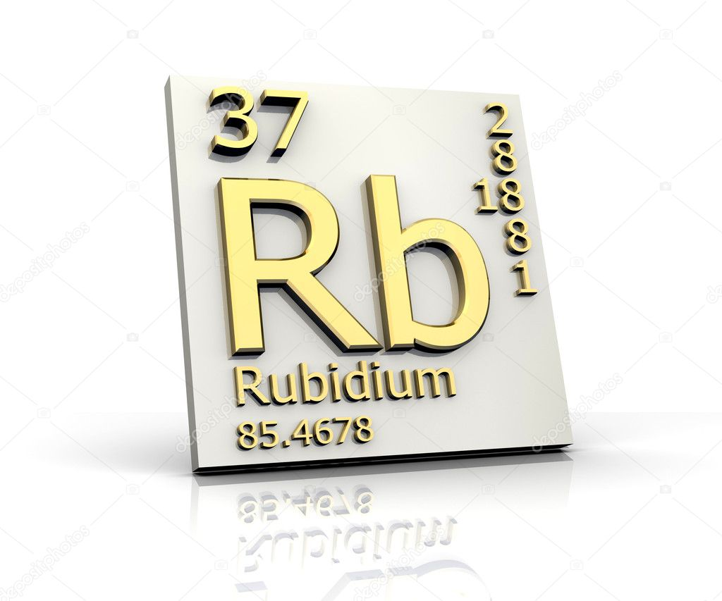 Rubidium form Periodic Table of Elements — Stock Photo ...