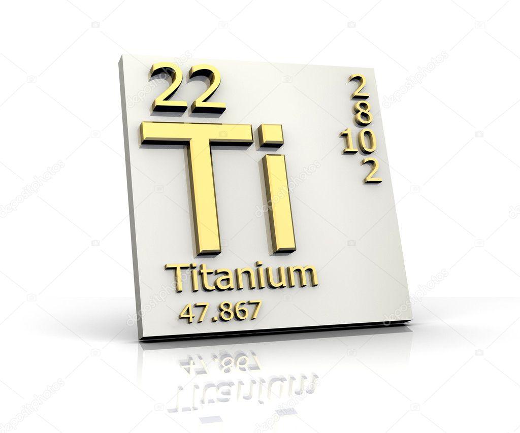 Titanium form periodic table of elements stock photo for Table titanium quadra 6