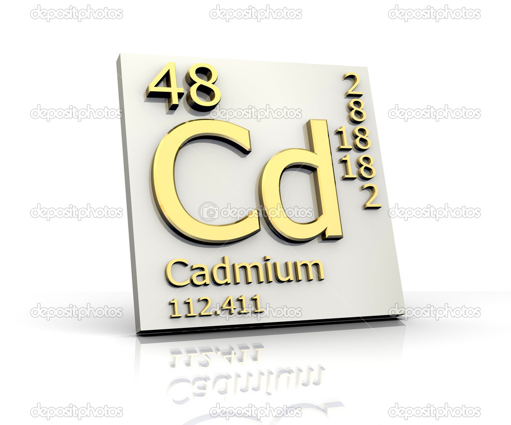 Cadmium form Periodic Table of Elements — Stock Photo ...
