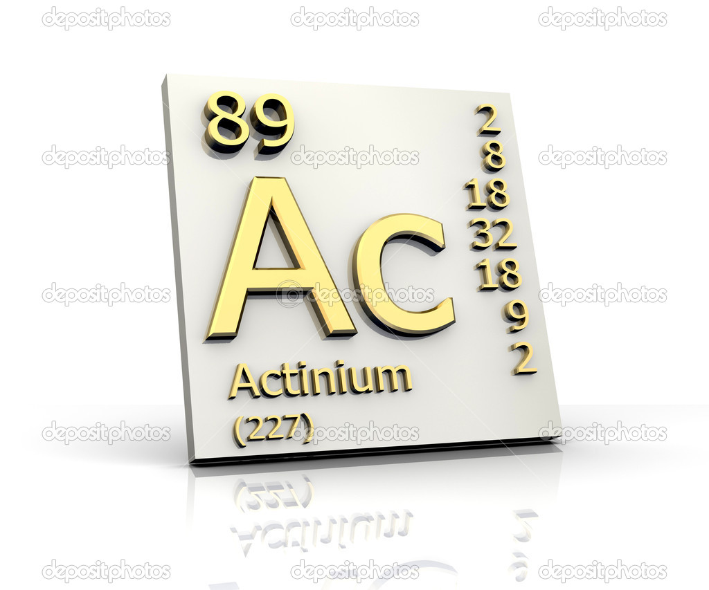 Actinium form Periodic Table of Elements - Stock ImageActinium Periodic Table
