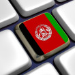 Stock Photo: Keyboard (detail) with Afghanistflag key