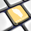 Keyboard (detail) with Dominica key - Stock Photo