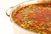A pot of soup — Stock Photo