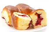 Cakes with cherries — Stock Photo