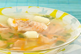 Salmon soup — Stock Photo