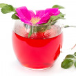 Wild rose flower and tea — Stock Photo
