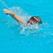 Boy swimming — Stock Photo