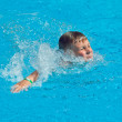 Boy swimming — Stock Photo #5806236