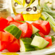 Salad of cucumber and tomato — Stock Photo #5860145