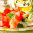 Salad of cucumber and tomato — Stock Photo #5860188