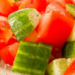Salad of cucumber and tomato — Stock Photo #5860191