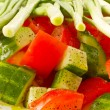 Salad of cucumber and tomato — Zdjęcie stockowe #5860203