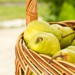 Stock Photo: Pears in basket