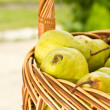 Stock Photo: Pears in the basket
