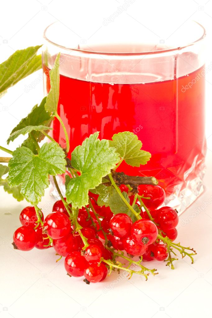 Delicious compote of fresh red currants — Stock Photo #5906643