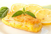 Fish fillets fried in batter — Stock Photo