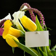 Beautiful bouquet of tulips and calla lilies — ストック写真
