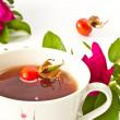 Tea with rosehip — Stock Photo