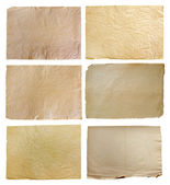 Set Of Vintage Real Papers Isolated On White Background — Stock Photo
