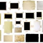 Vintage photo frames set, big collection — Stock Photo