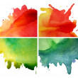 Set of watercolor abstract hand painted backgrounds — Stock Photo