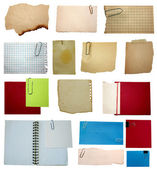 Set of paper notes isolated on white background — Stock Photo