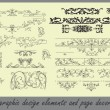 Vector set: calligraphic design elements and page decoration — Stock Vector