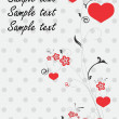 Beautiful card with hearts — Image vectorielle