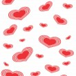 Seamlessly vector wallpaper valentine with hearts - Stock Vector
