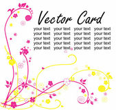 Vector greeting card — Stockvektor