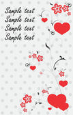 Beautiful card with hearts — Stock Vector