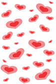 Seamlessly vector wallpaper valentine with hearts — Stock Vector