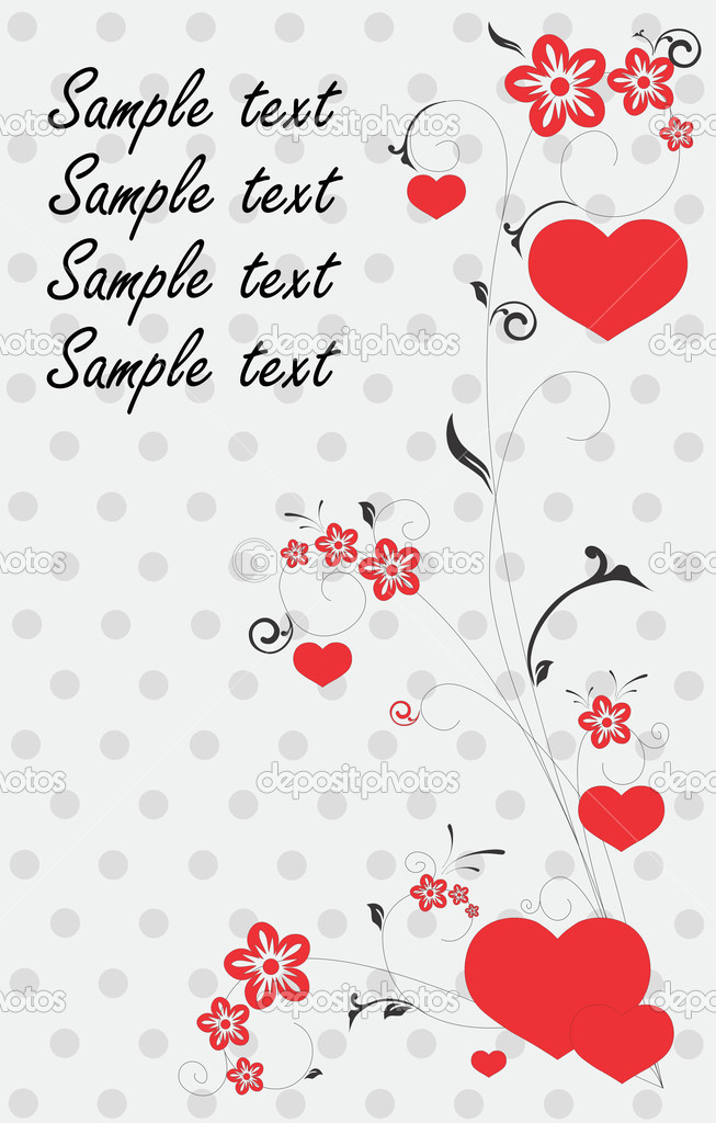 Beautiful card with hearts  Stock Vector #5769913