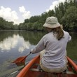 Stock Photo: Canoeing at Danube