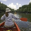 Canoeing at Danube — Stock Photo