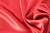 Fond de satin ou de soie rouge — Photo