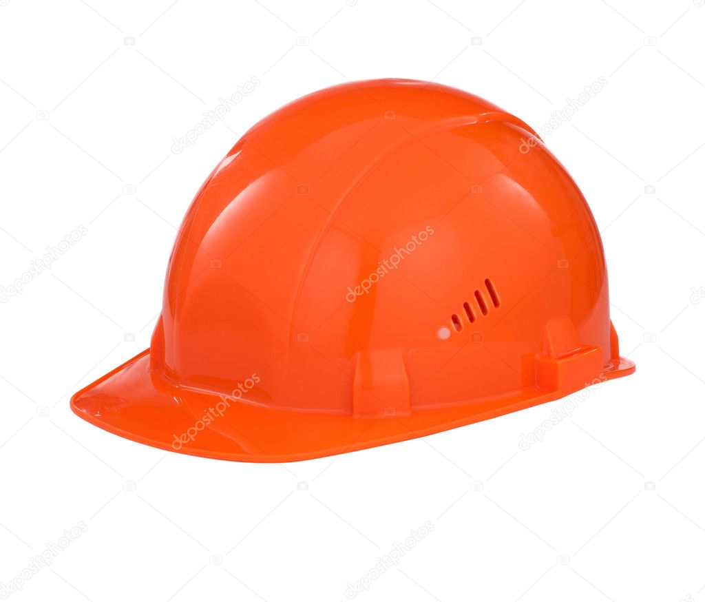 Orange builder safety hard hat with clipping path included — Stock Photo #5915567