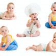 Baby boy isolated collection — Stock Photo